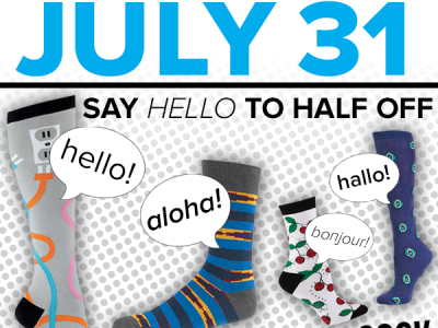 Say Hello To Half Off Sale End July Sock It To Me