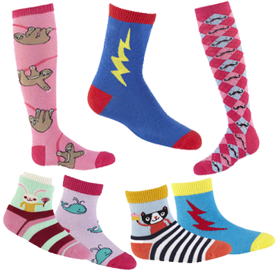 Kids Youth Junior Sock Designs Funky