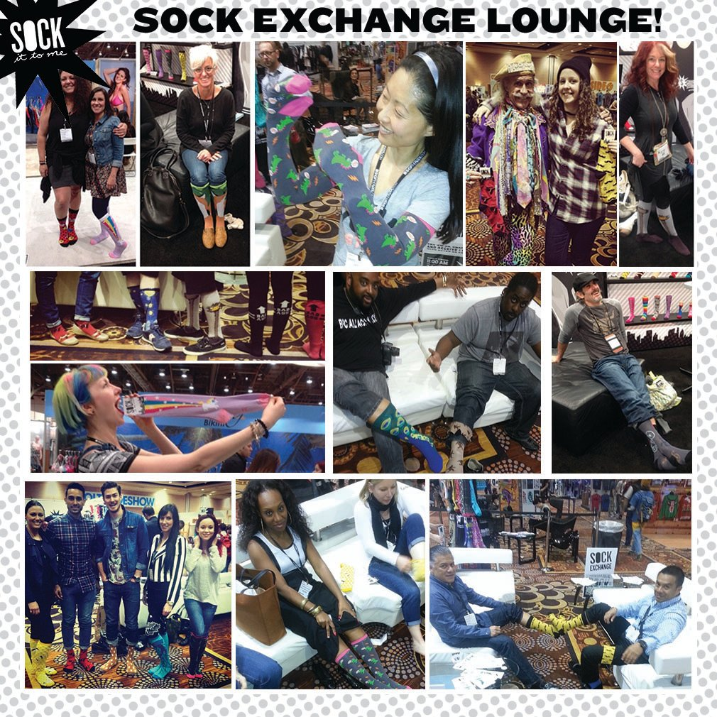 Sock it to me tradeshow sock exchange 2014