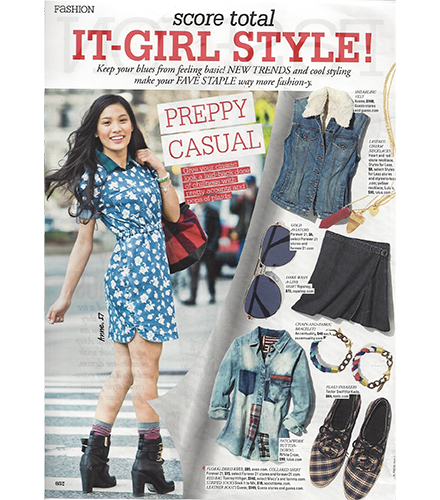 Seventeen Magazine August Issue_Sock It to Me 2014