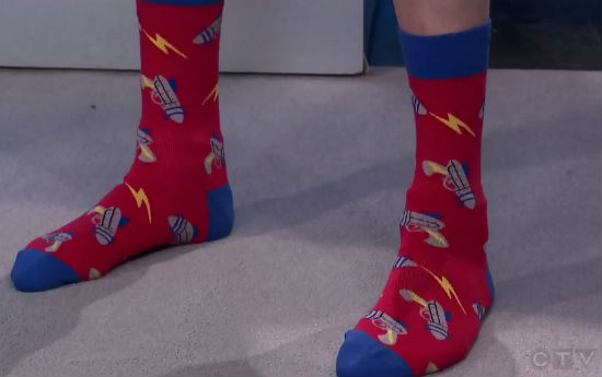 Edmonton TV Sock Close Up