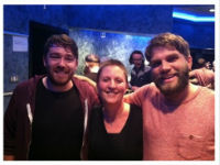 Fran with Frightened Rabbit.