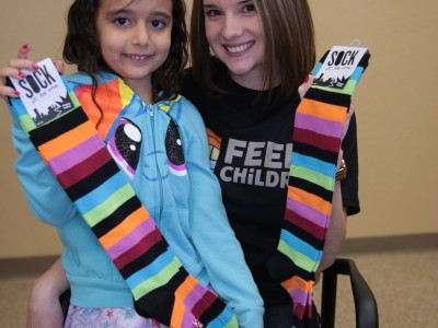 Feed the Children Sock Donation