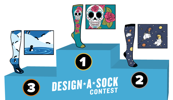 Presenting: the 2015 Design a Sock Contest WINNERS!