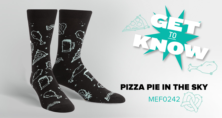 Get to Know Pizza Pie in the Sky Socks