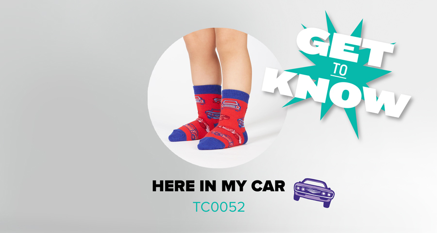 Get to Know Here in My Car Toddler Socks