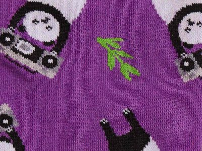 Panda Anything Sock Detail