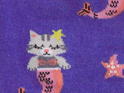 Purrmaid Sock Detail