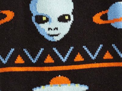 Alien Sweater Sighting Sock Detail