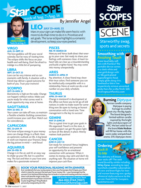 Star Magazine's Star Scopes Out the Scene