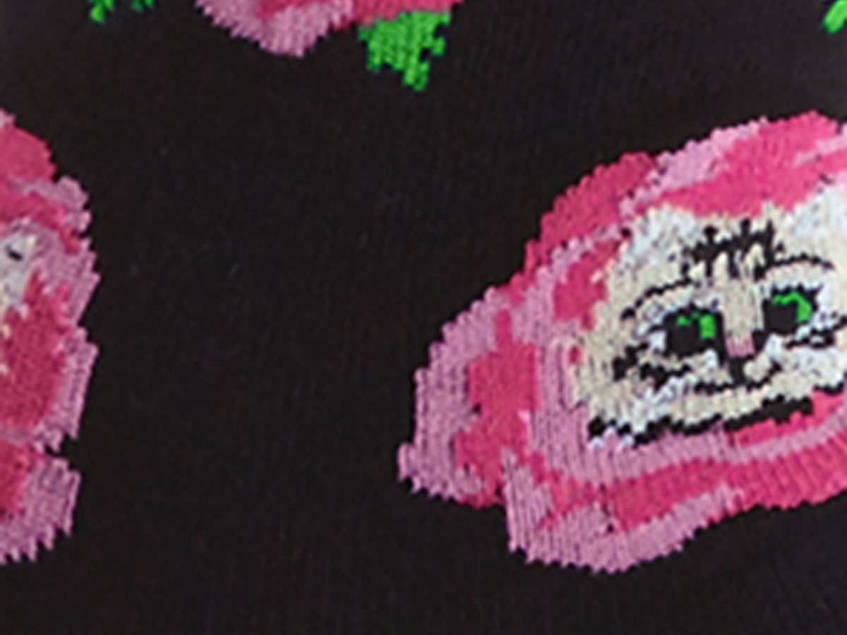 Cat Buds Sock Detail