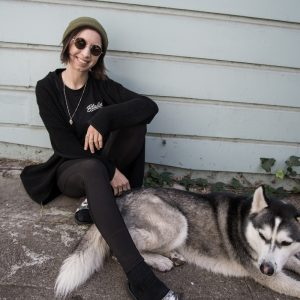 Megan Petersen hangs out with her pup, Canon.