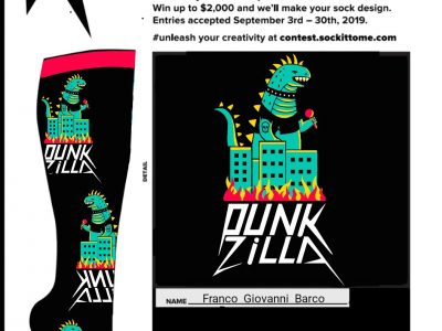 Punkzilla coming to a sock (and city) near you