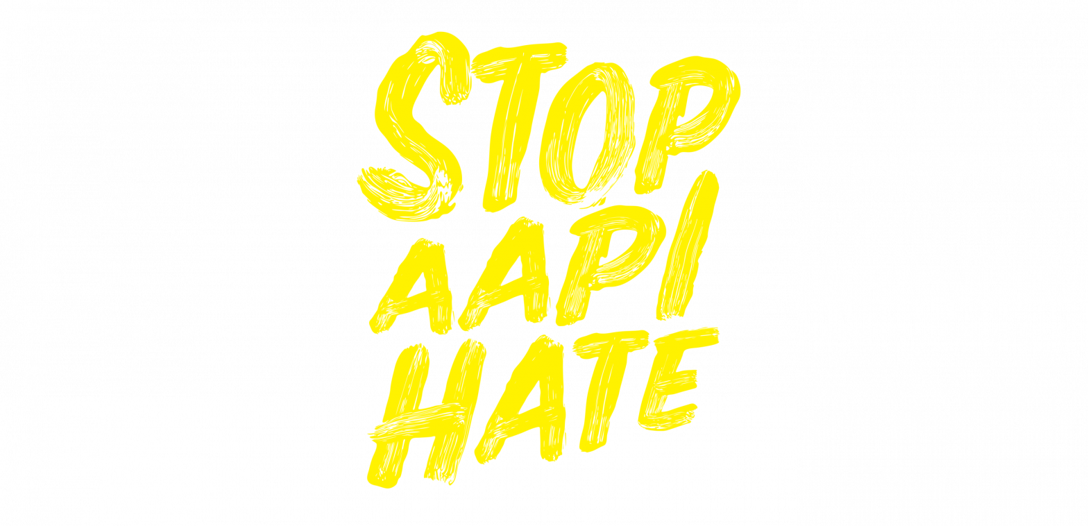Stop AAPI Hate logo in yellow